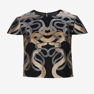 ✨Ted Baker✨ Eowyn Snake Jacquard Crop Top (size 4)